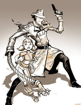Inspector Gadget and Penny - Sketch