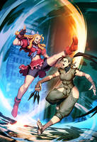 Street Fighter Unlimited 3 cover - Karin VS Ibuki by GENZOMAN
