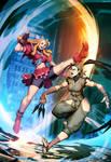 Street Fighter Unlimited 3 cover - Karin VS Ibuki