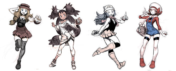 Pokegirls sketchs vol 1