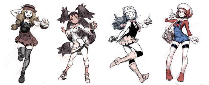 Pokegirls sketchs vol 1 by GENZOMAN