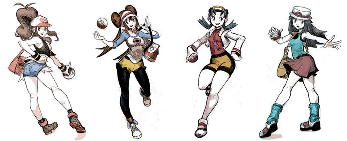 Pokegirls sketchs vol 2