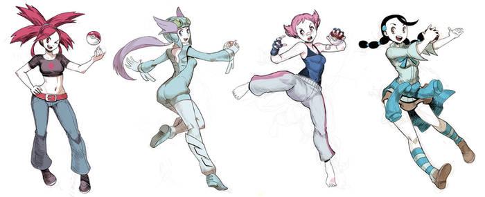 Pokegirls sketchs vol 4