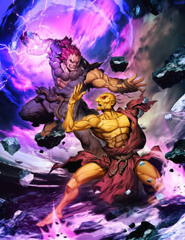 Street FIghter Unlimited 5 Cover - Oro VS Akuma