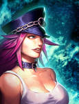 Street FIghter Portrait - Poison by GENZOMAN