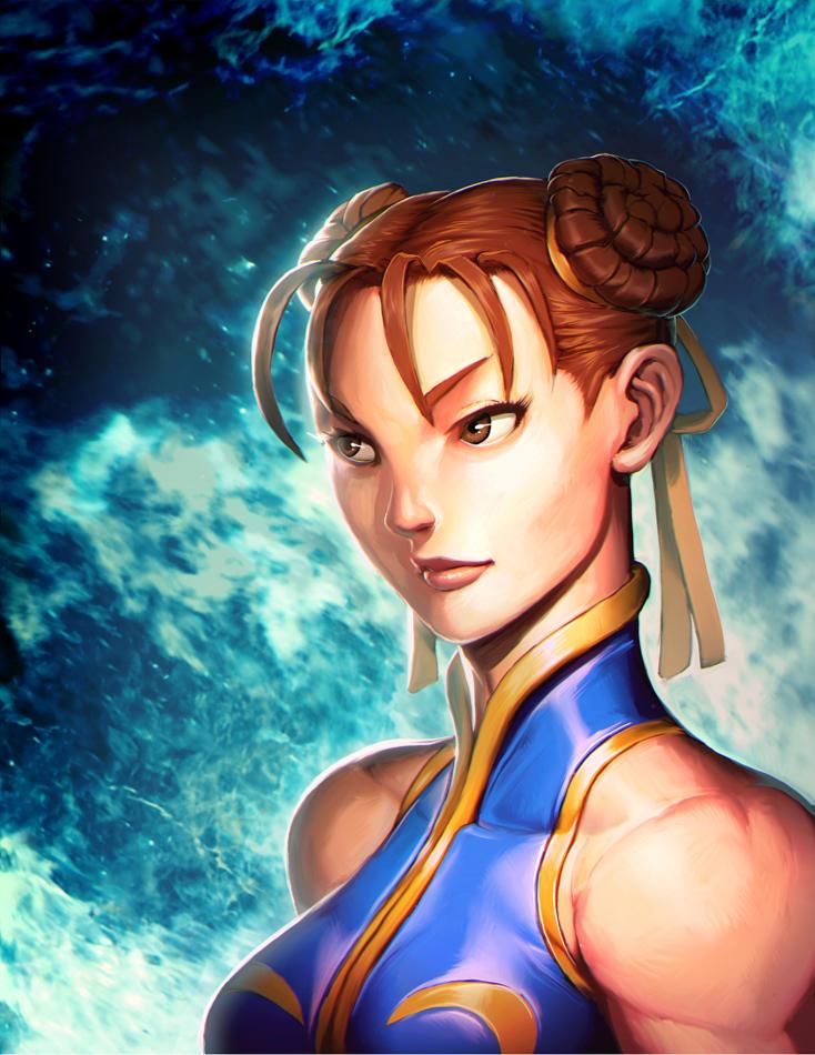 Street Fighter Portrait Chun Li By Genzoman On Deviantart