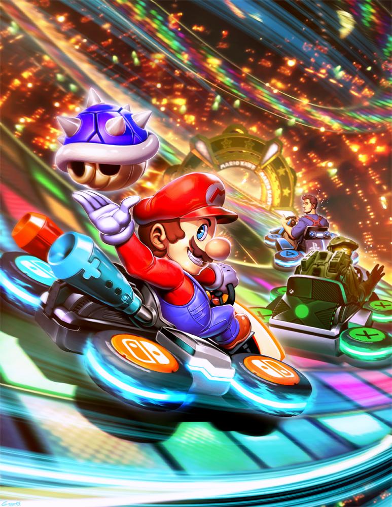 Mario Kart 8 VS Nathan Drake VS Master Chief by GENZOMAN ...