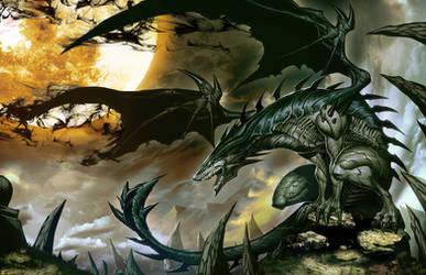 Shadow Dragon by GENZOMAN