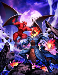 Marvel Vs Capcom Infinite - Dormammu Vs Firebrand by GENZOMAN