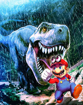 Super Mario oddysey in Jurassic Park by GENZOMAN