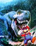 Super Mario oddysey in Jurassic Park