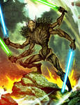 Scary Tree Grievous