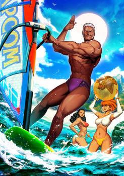 Urien - Street Fighter Summer Sports special
