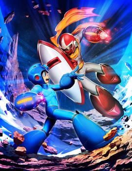 Mega Man VS Break Man - Mega Man Mastermix 3