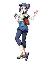 Pokemon Masters - Female Trainer by GENZOMAN