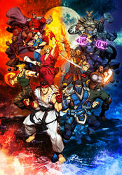 Street fighter VS Mortal Kombat by GENZOMAN