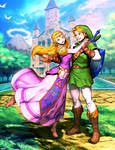 Link and Zelda - Ocarina of Time by GENZOMAN
