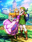 Link and Zelda - Ocarina of Time