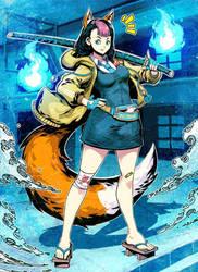 Kitsune Girl by GENZOMAN