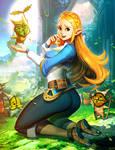 Zelda and koroks