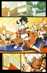 Street Fighter Back to School - page 4 by GENZOMAN