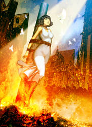 Joan Of Arc - Immolation by GENZOMAN
