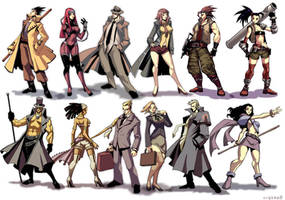 Chara design: Game draft by GENZOMAN