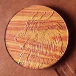 Lion - 3 Inch Tulip Wood