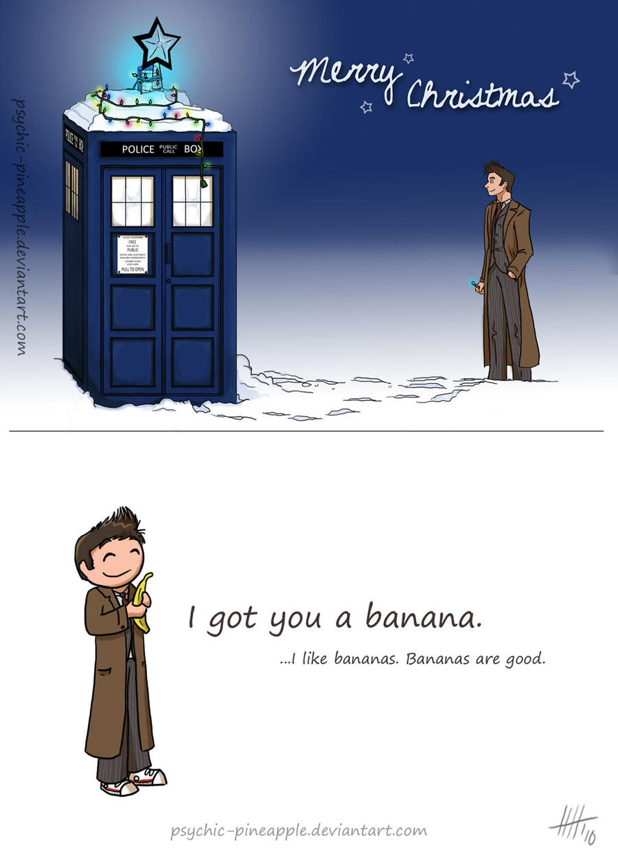 Christmas card, Doctor style by psychic-pineapple on DeviantArt