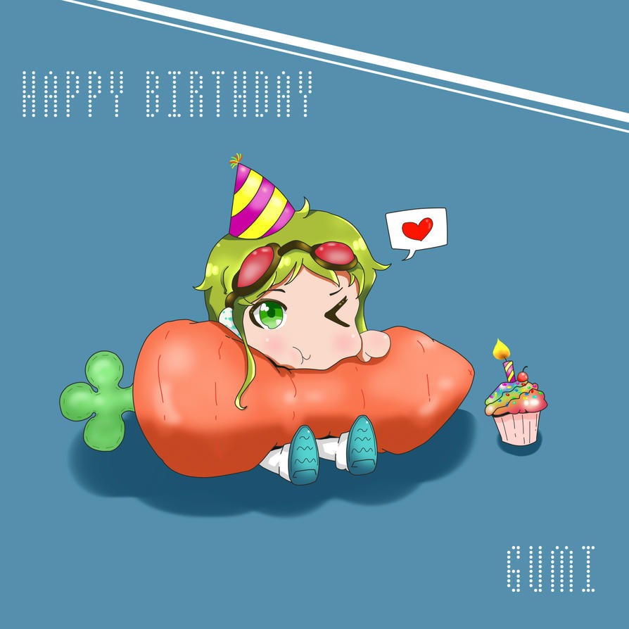 Happy Birthday Gumi by Thea-B on DeviantArt