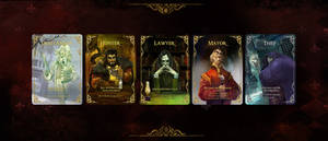 Characters for the card game Wolfed by SvetoslavPetrov