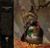 Mushroom witch by SvetoslavPetrov