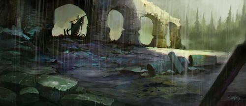 The ancient bridge