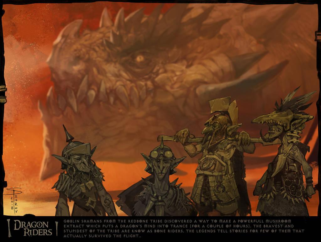 Dragon riders by SvetoslavPetrov