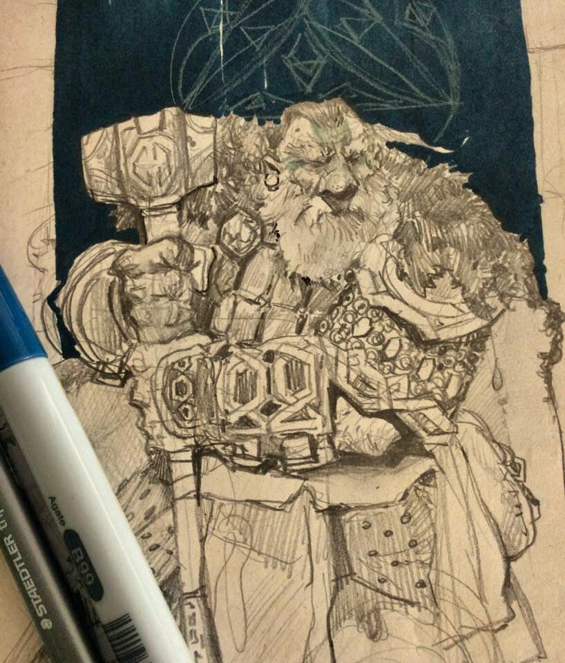 Dwarf Cleric by SvetoslavPetrov