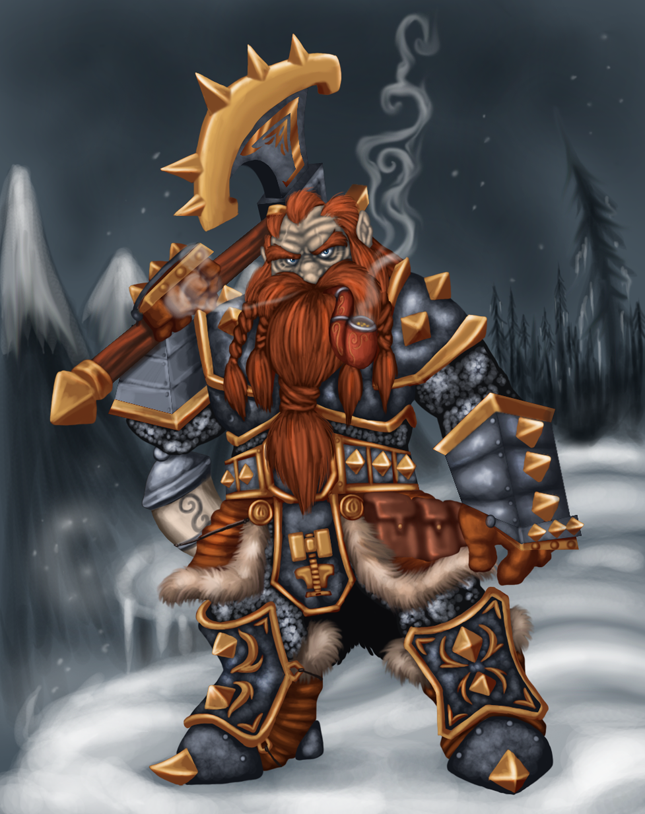 Gunnar the Mighty Dwarf by Lordstevie
