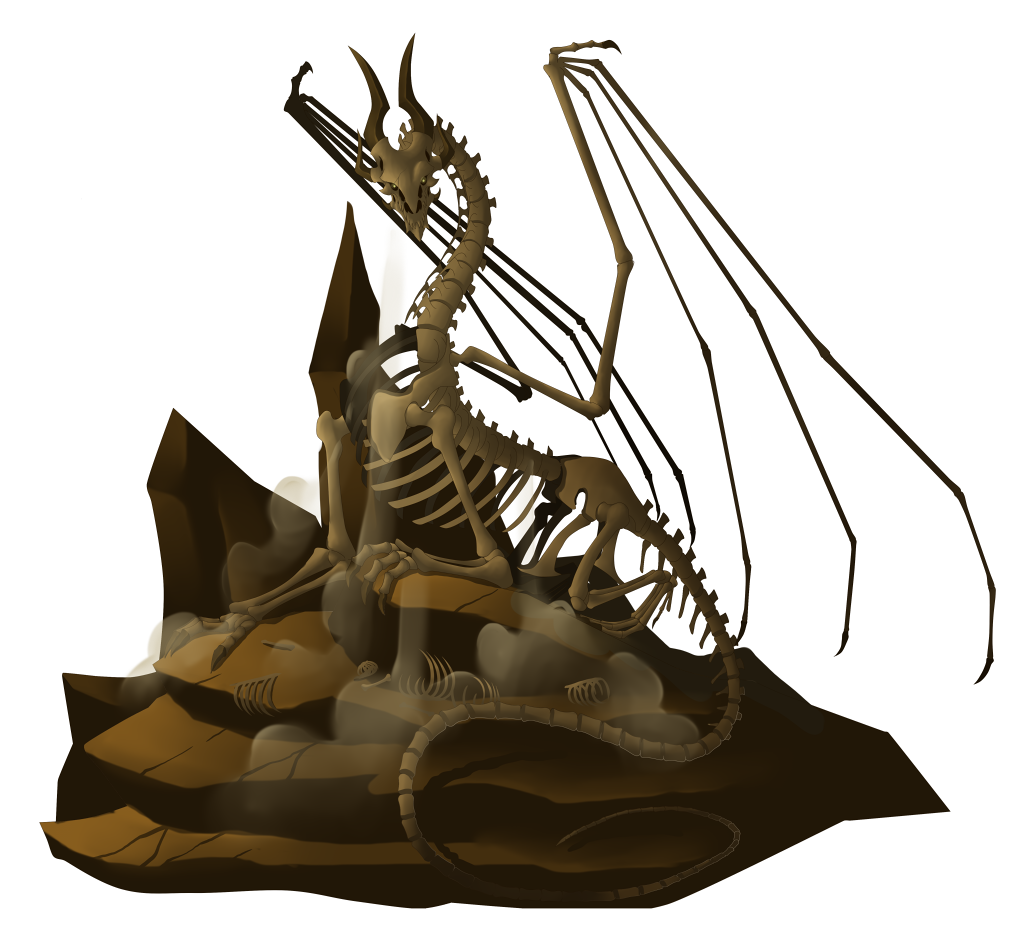 Fossil Dragon by Lordstevie