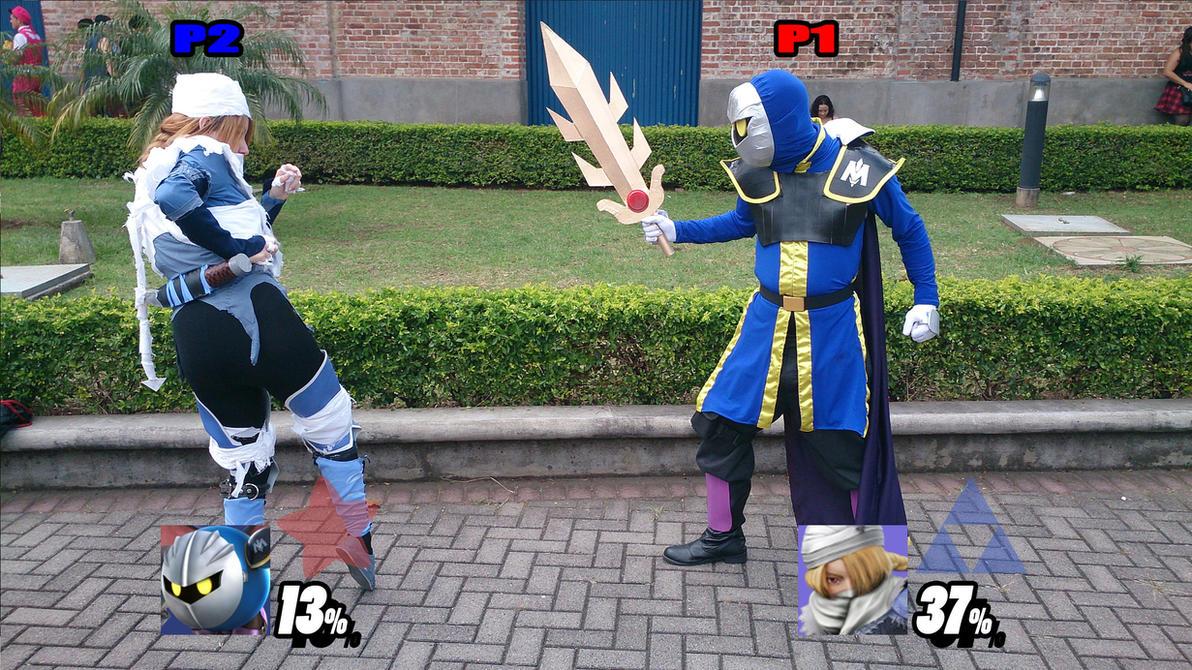 Meta Knight vs. Sheik by DallenaD