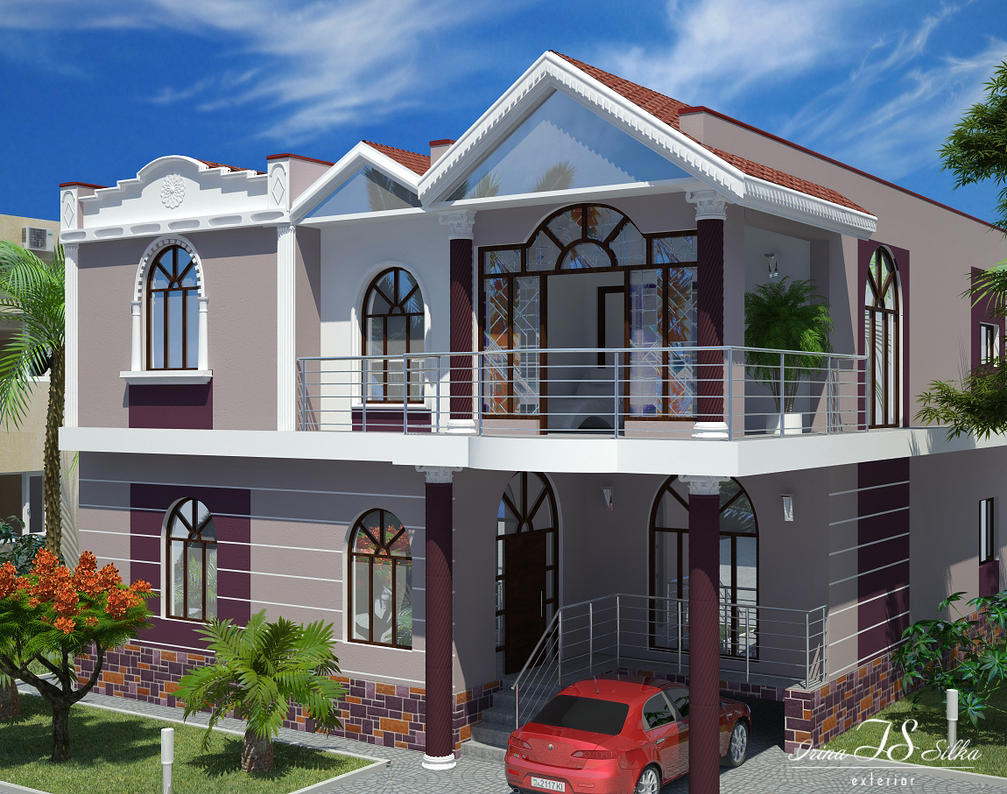 House facade by irina silka on deviantart for Big house images in india