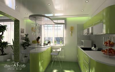 The house in Tyumen (kitchen) by irina-silka