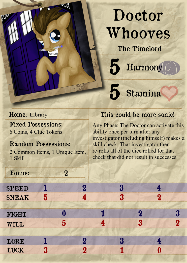 Doctor Whooves - Investigator Card by Konsumo