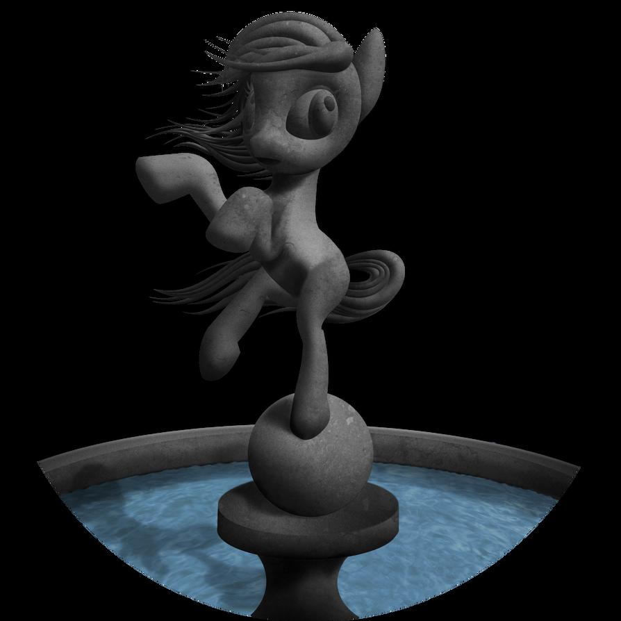 Pony Statue Fountain - Special WIP thingie! by Konsumo