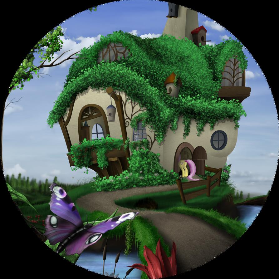 Fluttershys Cottage by Konsumo