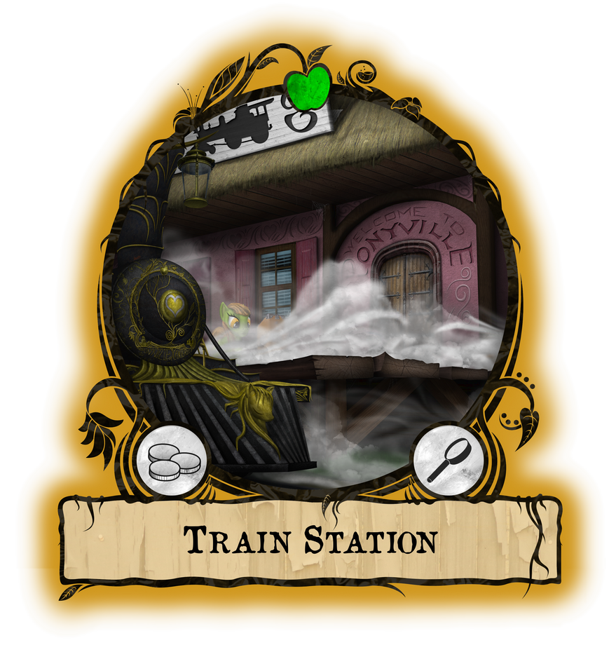 Ponyville Train Station by Konsumo