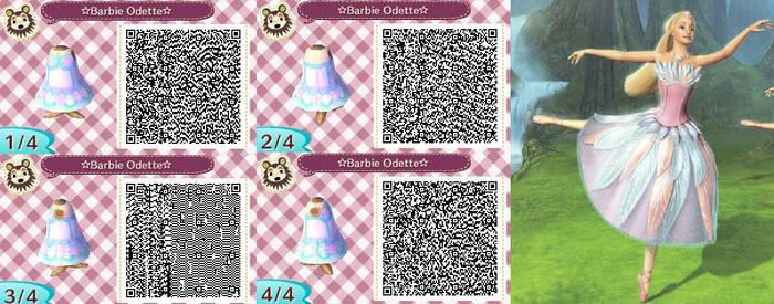 Acnl Qr code dress: Barbie Odette