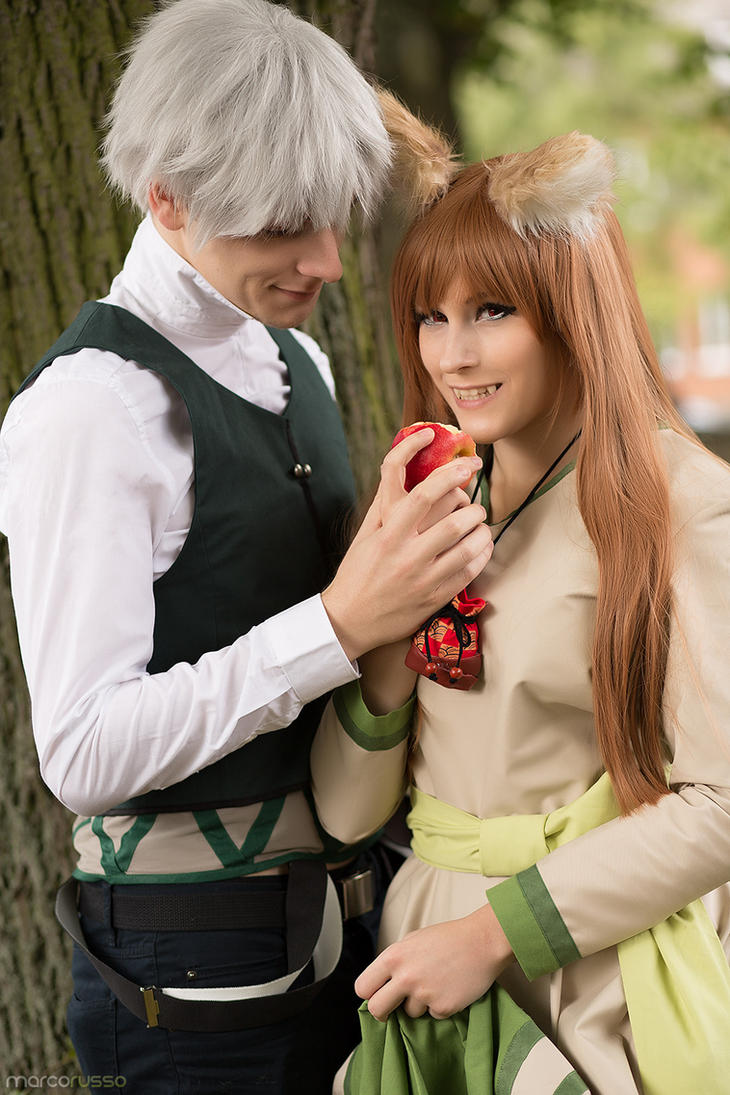Horo and Lawrence by flockenschnitte