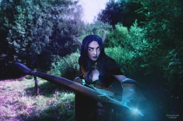 Night elf Archer Shandris Feathermoon by KatyaKeller