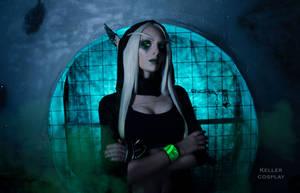 Sylvanas Cyberpunk style