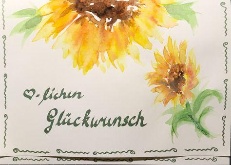 Birthday card 4 Elke 08/2016 by 8Annett8
