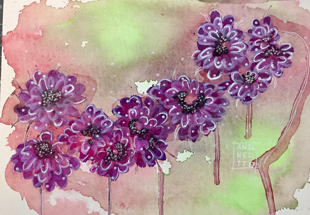 Purple Flowers by 8Annett8